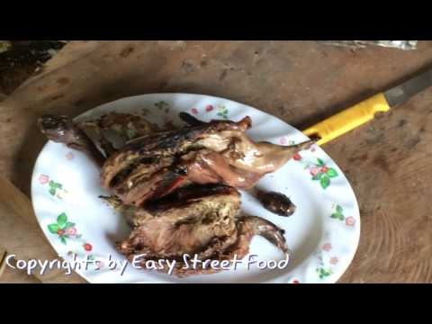 Village food factory-Grilled the giant bird with aluminium-How to grilled giant bird-Country Food