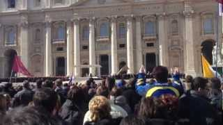 Pope Benedict XVI last Apostolic benediction St. Peter