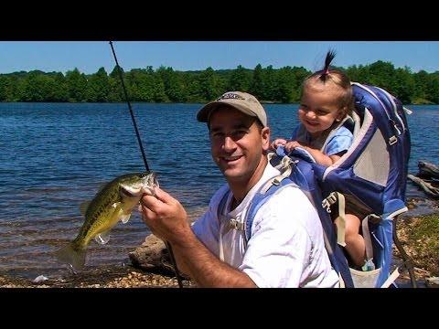 SHORELINE BASS FISHING with DAD (Little Seneca Lake, MD)