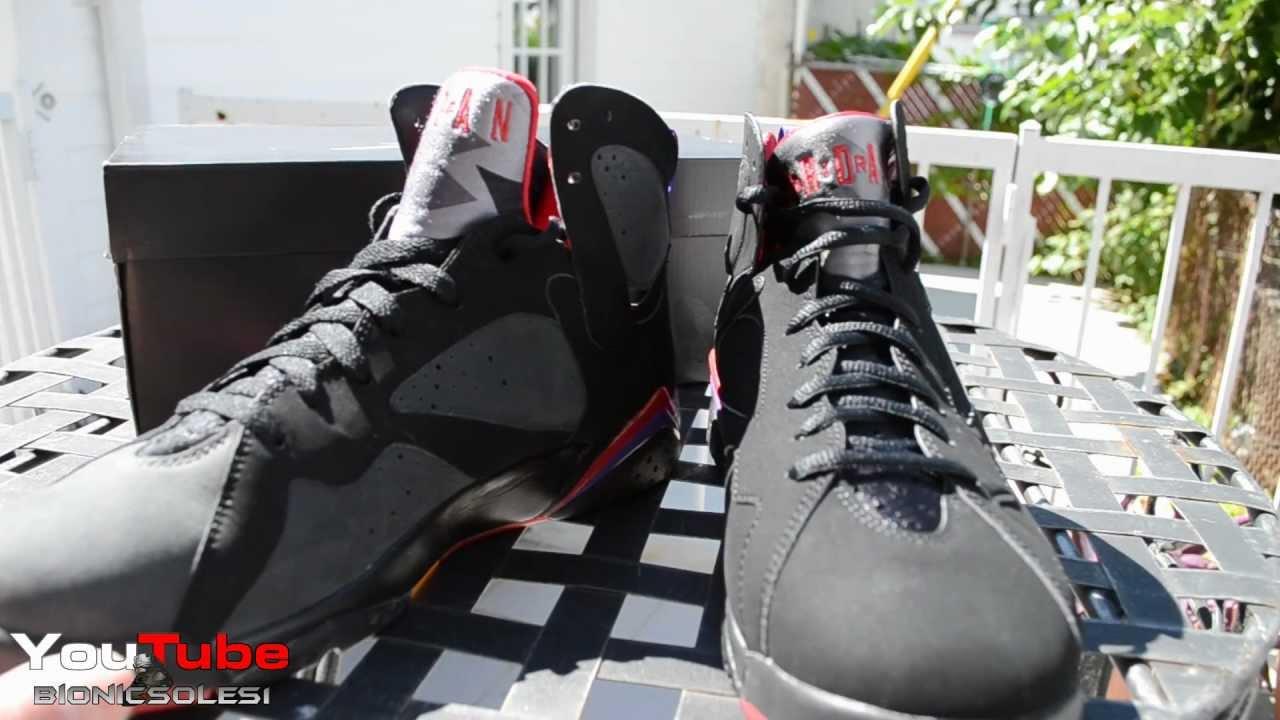 Comparison of The 2012 Air Jordan VII   2009 Air Jordan DMP Charcoals  Raptors d470894103