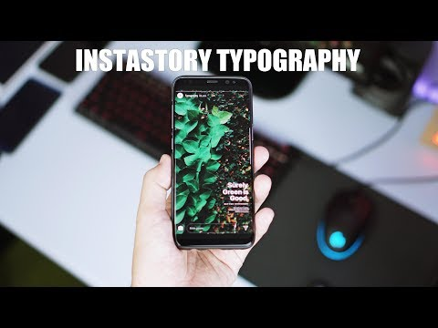 Trik Instastory Typography Terbaru