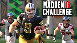 Kick Returning With Quarterbacks - Drew Brees Edition! - Madden 16 NFL Challenge