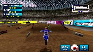 Jeremy McGrath Supercross 2000 Gameplay Single Race Dallas (PlayStation)