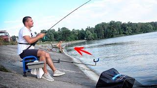 ДАЛ ДЕДУ СНАСТЬ и ПОНЕСЛАСЬ Рыбалка на ФИДЕР и ПОПЛАВОК с дамбы водохранилища