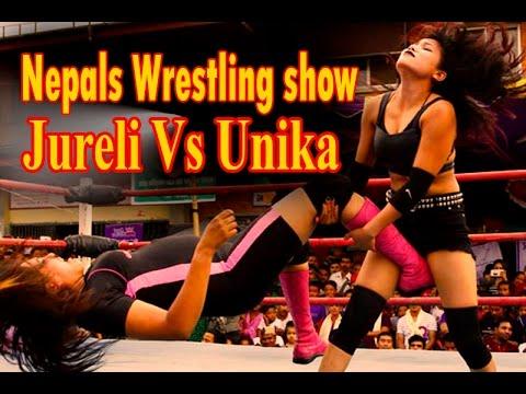 Nepals Female wrestling show Jureli Vs Unika