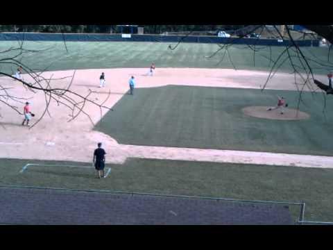 Tanner Revis- Enka Baseball avoiding the pick off