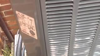2005 Trane XL 14i Air Conditioner & 1980s Bryant Furnace - 9/6/14