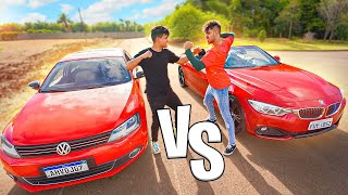 DESAFIEI O CARRO NOVO BMW 428i DO MEU AMIGO vs MEU JETTA STAGE 2