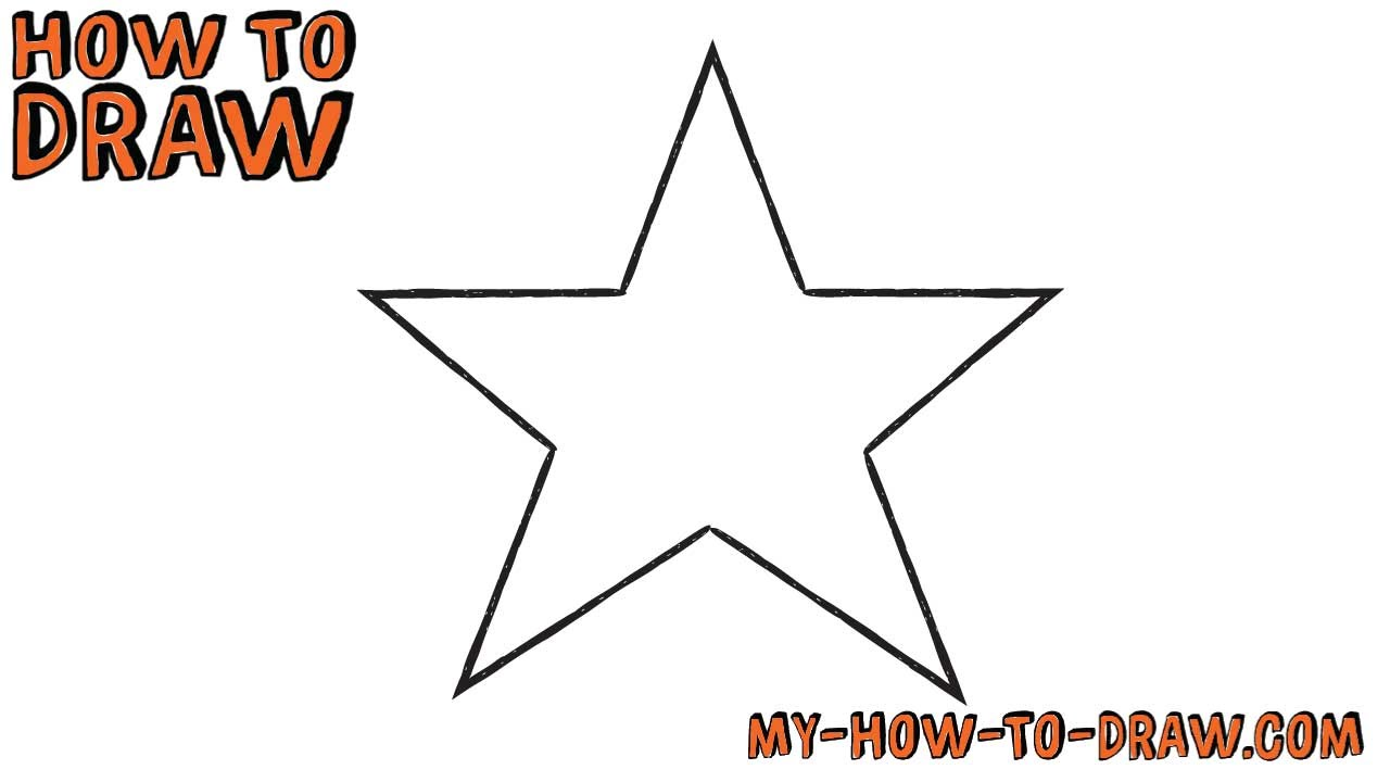 How To Draw A Star Super Easy Easy Step By Step