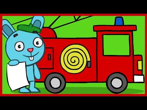 Как нарисовать пожарника который тушит пожар поэтапно для детей