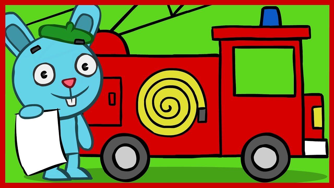 Как нарисовать для ребенка пожарную машину