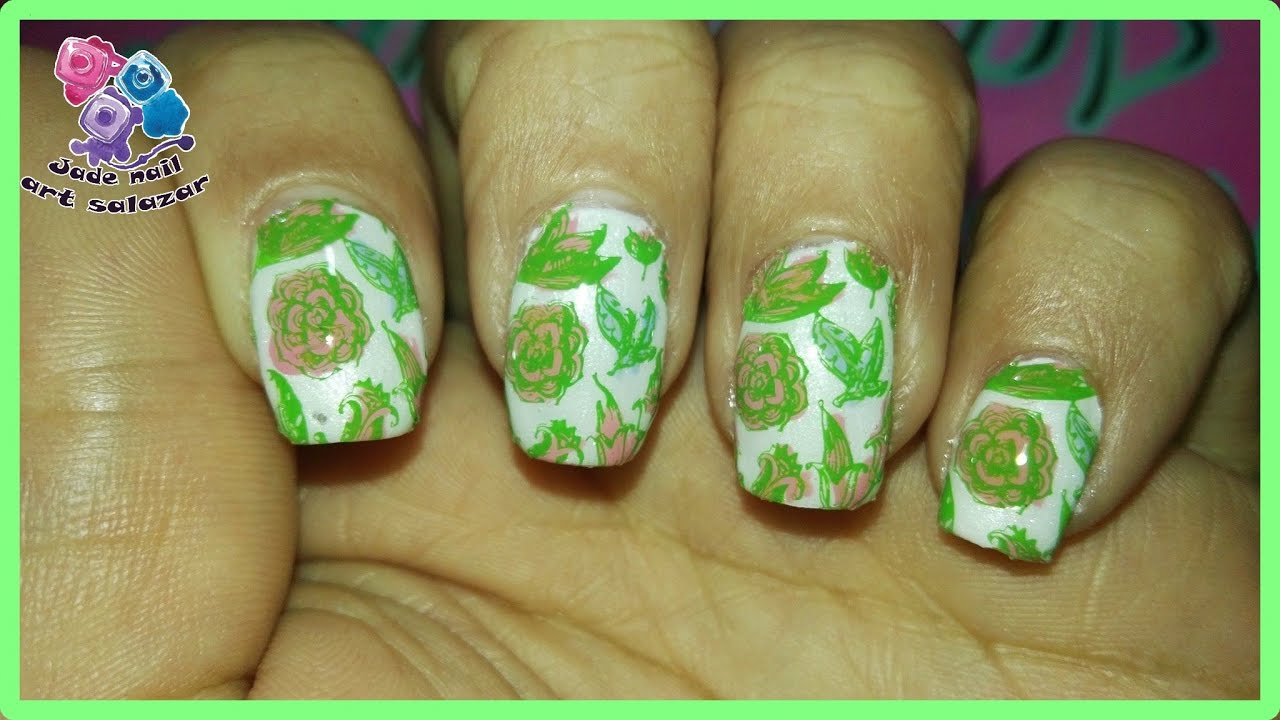 DISEÑO DE UÑAS . FLORES DE MOYOU LONDON - YouTube
