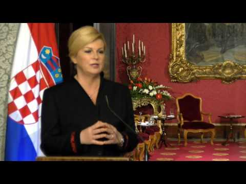 Press Conference during the State Vist by The President of Croatia