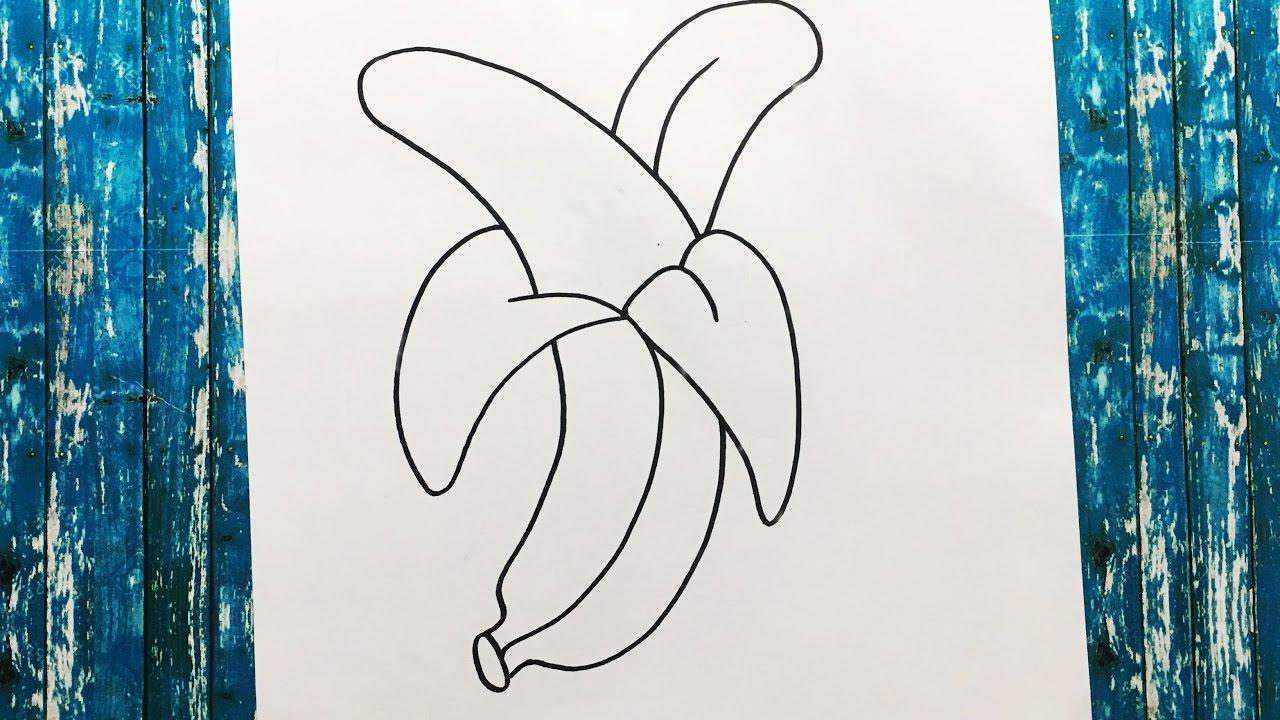 Cómo Dibujar Una Banana Paso A Paso Fácil Y Rápido How To Draw A Banana