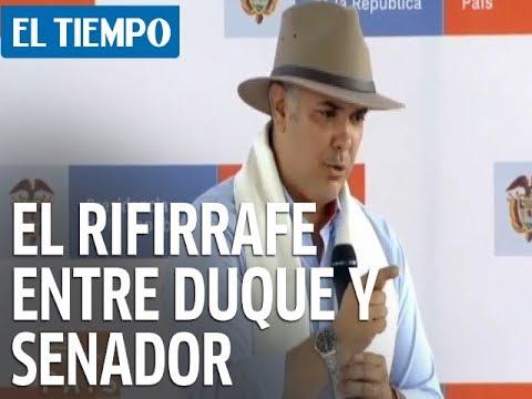 El rifirrafe entre el presidente Duque y el senador Temístocles Ortega