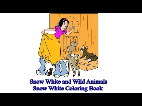 Snow White and Wild Animals | Snow White Coloring Book