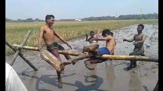 Vidieo lucu tabuk bantal di atas lumpur ngakak