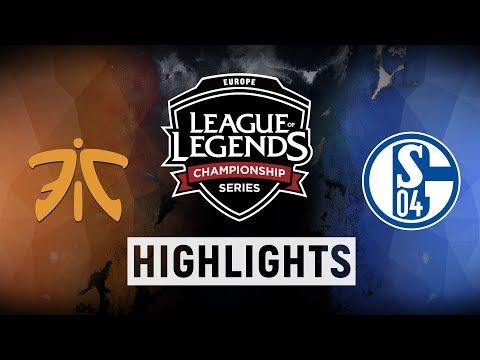 FNC vs. S04 - EU LCS Week 1 Day 2 Match Highlights (Summer 2018)