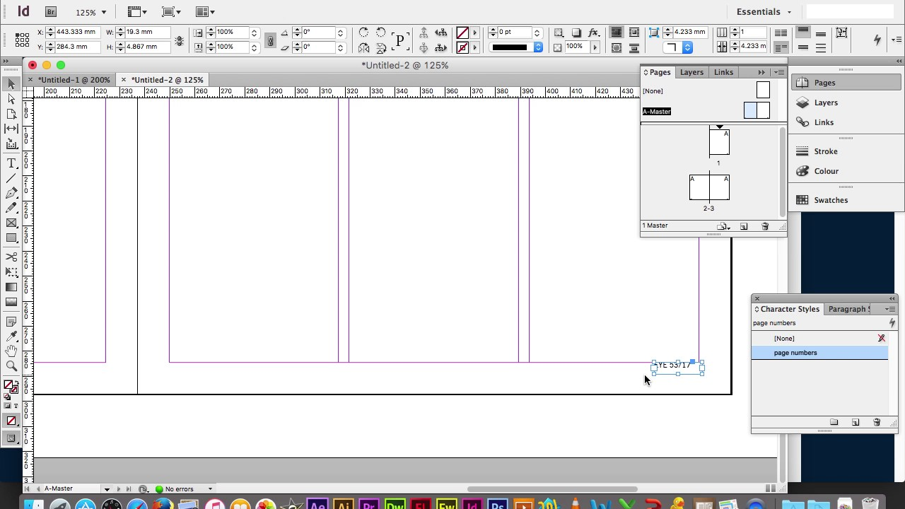 Adobe InDesign: How to add page numbers and start ...