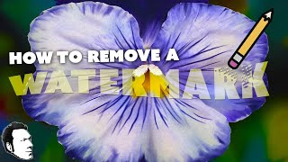 How to REMOVE a WATERMARK with Photoshop
