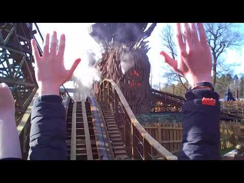 Wicker Man Roller coaster POV, Alton Towers Staffordshire UK