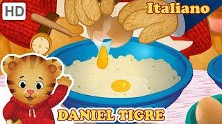 Daniel Tiger in Italiano 🎂🥞 Infornare e Cucinare con Me! | Video per Bambini