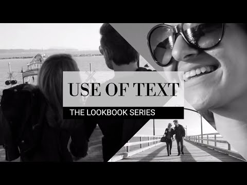 How to Use Text and Titles in Your Videos – The Lookbook Series⎪Filmora.io