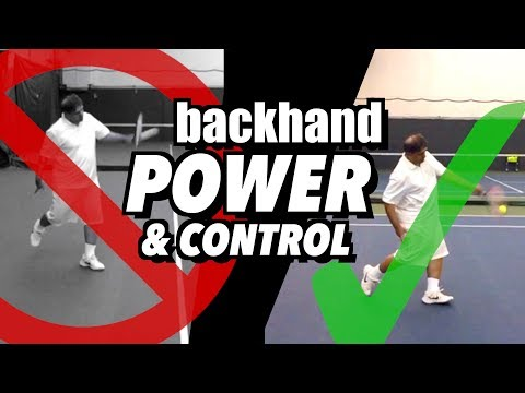 One Handed Backhand Tennis Lesson: Technique for Power & Control