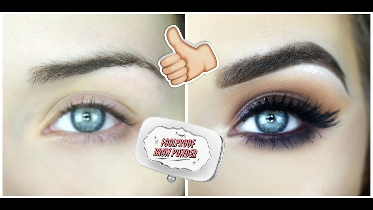 New Benefit Foolproof Brow Powder First Impressions Review Youtube