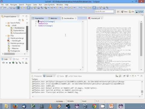 LaTeX-Einführung: 05. Dokumentstruktur