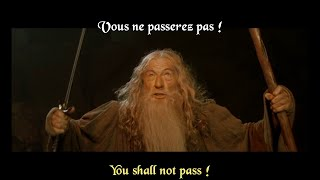 FRENCH LESSON - learn french with movies - Lord of the Rings ( fellowship of the ring part6 )