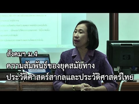สังคมฯ ม.4 ความสัมพันธ์ของยุคสมัยทางประวัติศาสตร์สากลและประวัติศาสตร์ไทย ครูณัฐยา แสงรัศมีเพ็ญ
