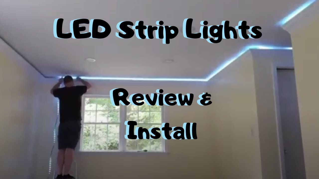 installing miheal rgb led strip lights in crown molding review install basement remodel ideas