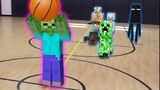 Monster School: Top 5 Minecraft Animations | Soccer | Farming | Basketball | Racing | Baseball