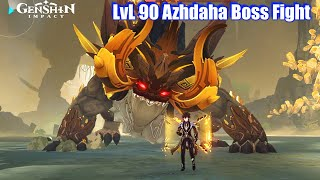 Genshin Impact - LvL 90 Azhdaha Dragon Boss Fight