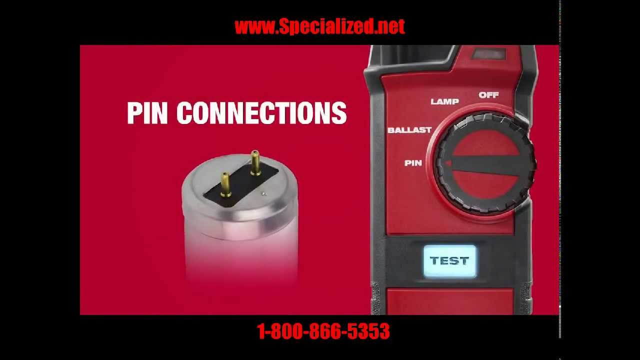 Milwaukee 2210-20 Fluorescent Lighting Tester For L&s Ballasts and Pins!  sc 1 st  YouTube & Milwaukee 2210-20 Fluorescent Lighting Tester For Lamps Ballasts ...