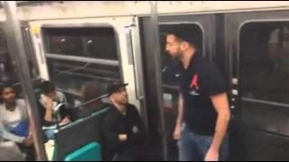 aller paris supporter du psg dans le metro