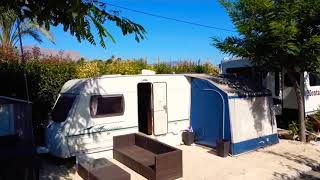 Touring Caravan & Awning For Sale On Camping Almafra Campsite In Benidorm. £7, 000