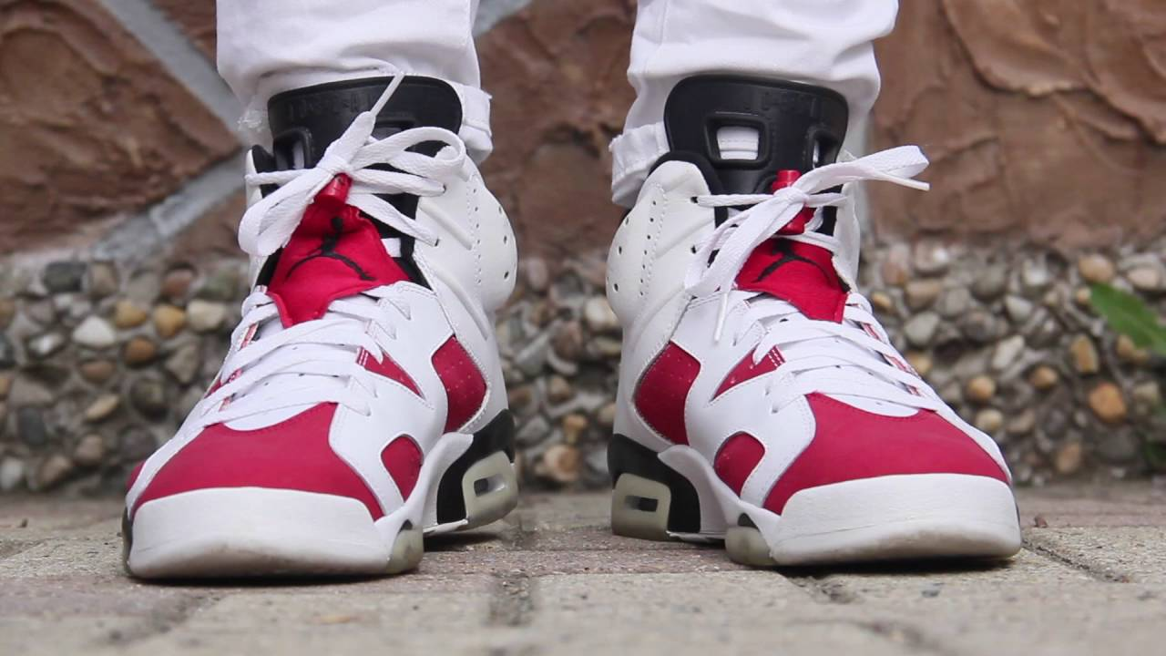 hot sale online ed71d 9e6f4 JORDAN 6 CARMINE CDP 2008 on feet