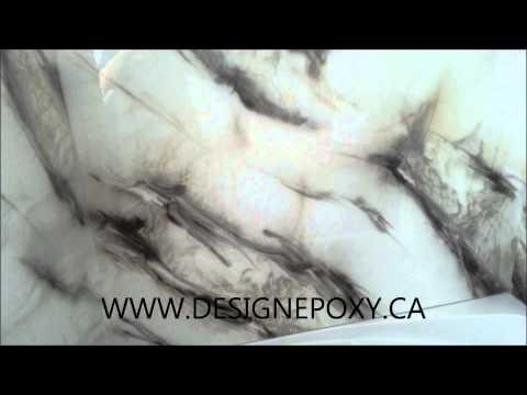 Comptoir epoxy Countertop Shower bath panels panneaux de douche