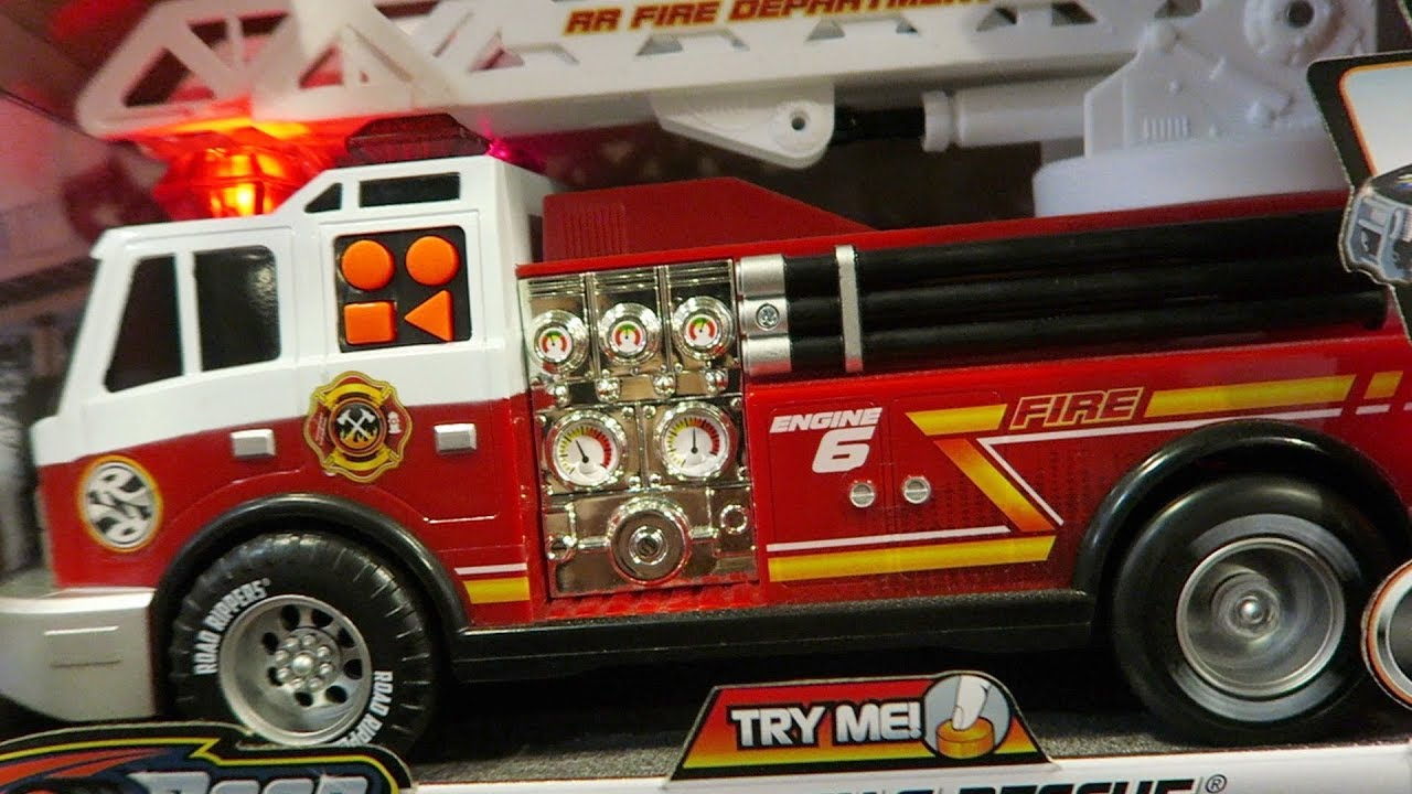 Fire Truck With Loud Siren Inside The Toy Store Toys R