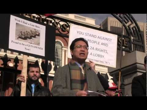 Massachusetts State House Firearms Rally 1/19/2013 - Amazing Chinese-American Perspective!