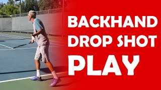 Backhand Drop Shot Play | BACKHAND SLICE