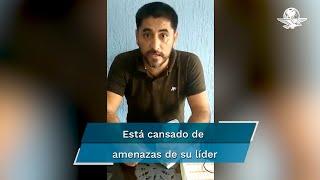 Álvaro Cázares publicó un video en donde exhibe lo que parecen fajos de billetes de 500 pesos, un presunto soborno de su líder magisterial, Benjamín Hernández