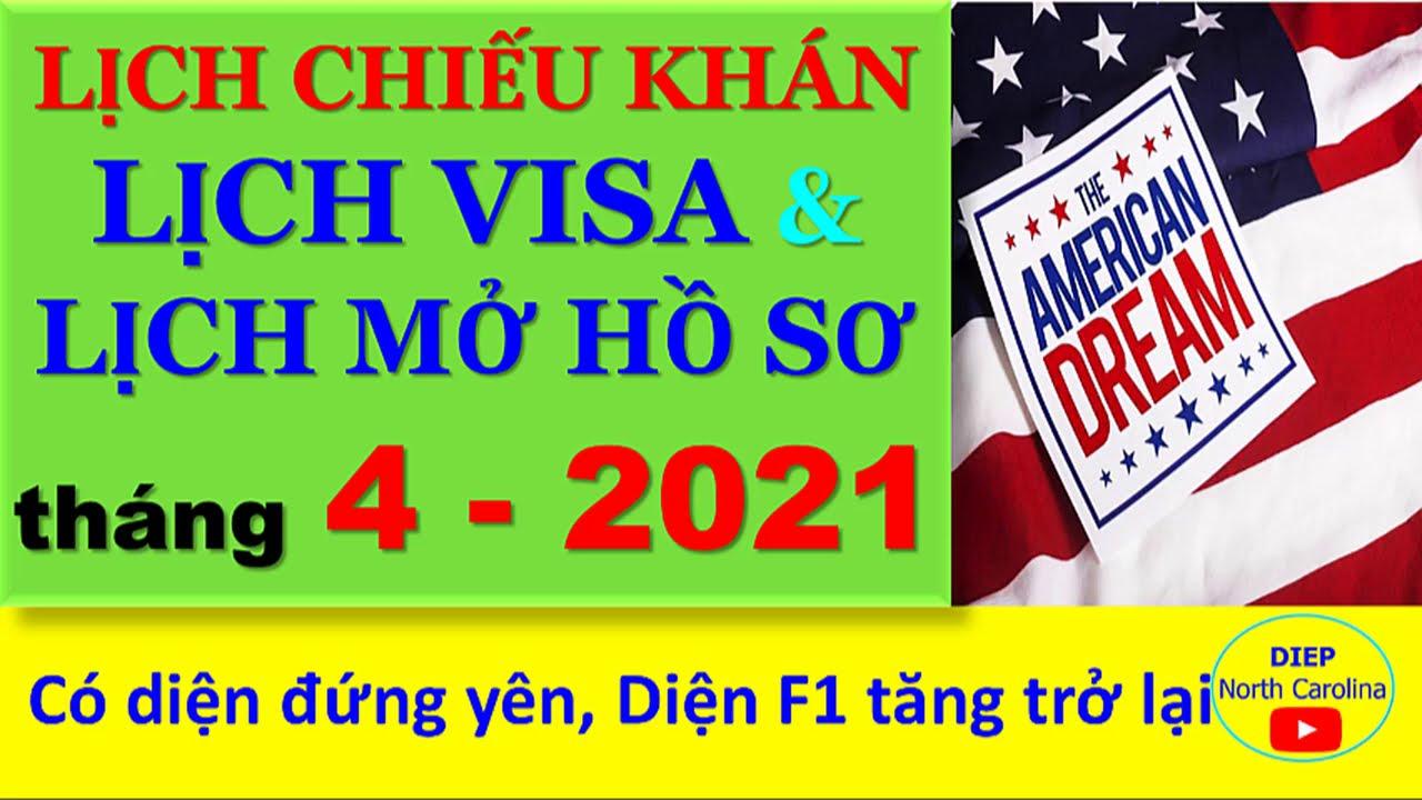 Lịch Visa & Lịch Mở Hồ Sơ tháng 04-2021 BẤT NGỜ CÓ SỚM- Lịch tăng và Đứng yên [Visa Bulletin APR 21]