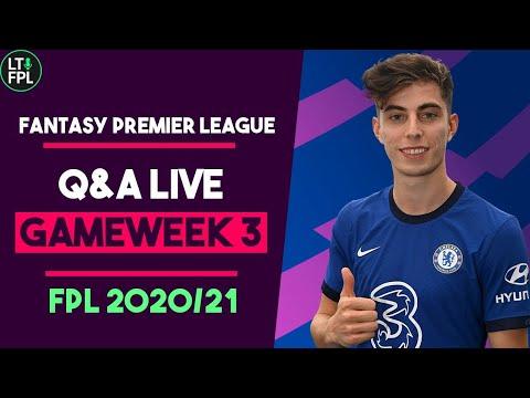 FPL Gameweek 3 Transfer Tips and Q&A | Wildcard dilmemmas |  Fantasy Premier League Tips 2020/21
