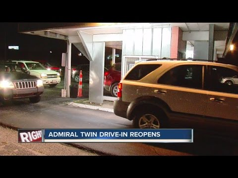 Admiral Twin DriveIn Reopens