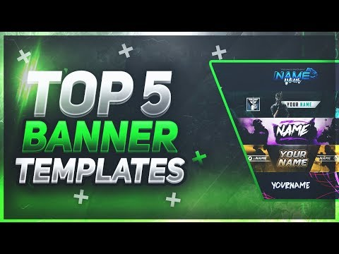 📸 TOP 5 FREE YouTube Banner Templates #17 | FREE DOWNLOAD!