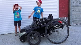 Baby Boy Ride on Power Wheels Mercedes S Class and the Wheel fell off & needed to be repaired