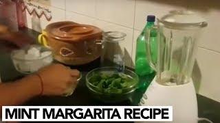Home-made Mint Margarita Recipe by Rambo | Sahiba | Jan Rambo | Lifestyle With Sahiba